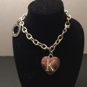 Girlfriend silver tone bracelet , new